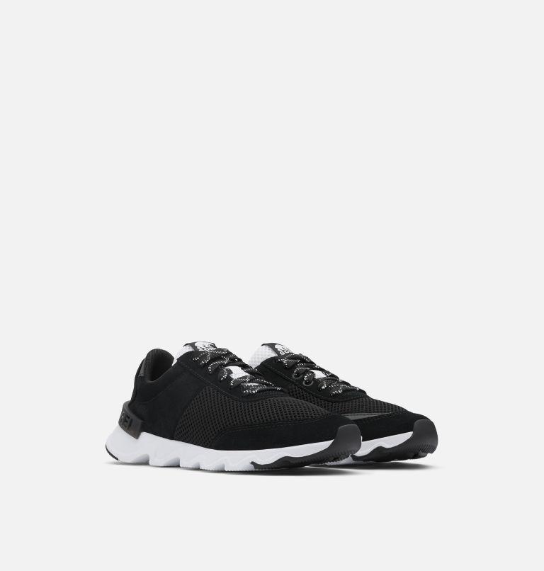 KINETIC™ LITE LACE | 010 | 8.5 Women's Kinetic™ LITE Lace Sneaker, Black, 3/4 front