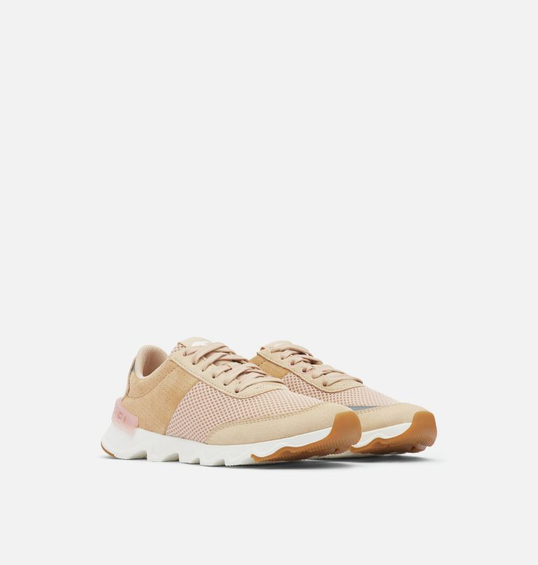 KINETIC™ LITE LACE | 257 | 10.5 Women's Kinetic™ LITE Lace Sneaker, Natural Tan, 3/4 front