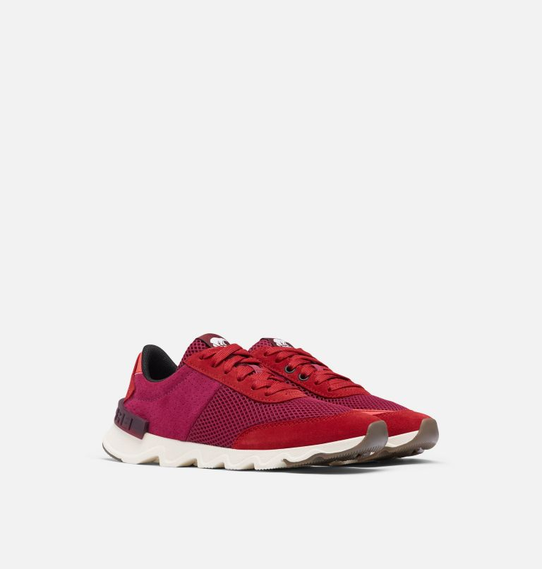 KINETIC™ LITE LACE | 660 | 8 Women's Kinetic™ LITE Lace Sneaker, Red Dahlia, 3/4 front