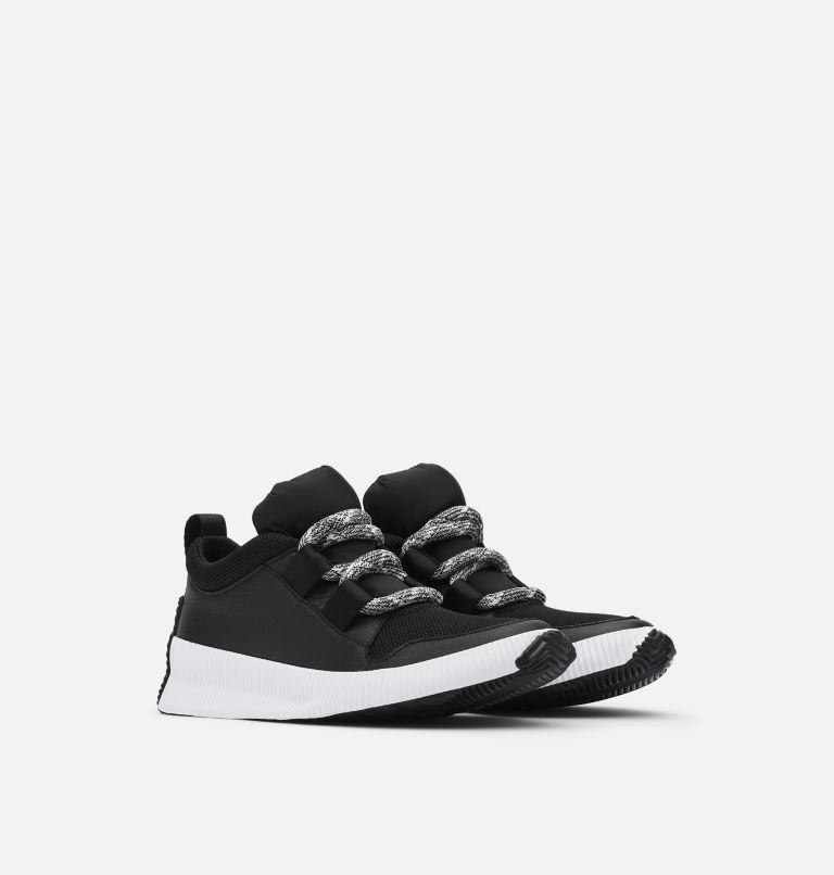 OUT N ABOUT™ PLUS STREET SNEAK | 010 | 5.5 Women's Out n About™ Plus Street Sneaker, Black, 3/4 front