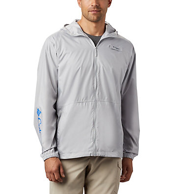 Men's PFG Three Streams™ Windbreaker Three Streams™ Windbreaker | 696 | L, Cool Grey, front