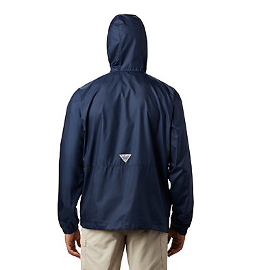 Men's PFG Three Streams™ Windbreaker Three Streams™ Windbreaker | 696 | L, Collegiate Navy, back