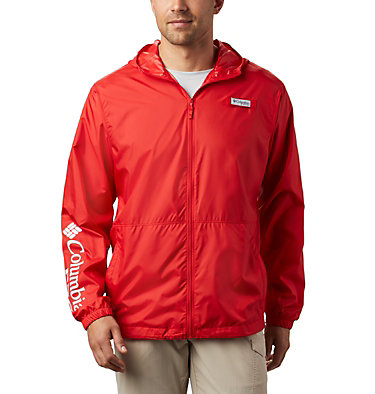 Men's PFG Three Streams™ Windbreaker Three Streams™ Windbreaker | 696 | L, Red Spark, front