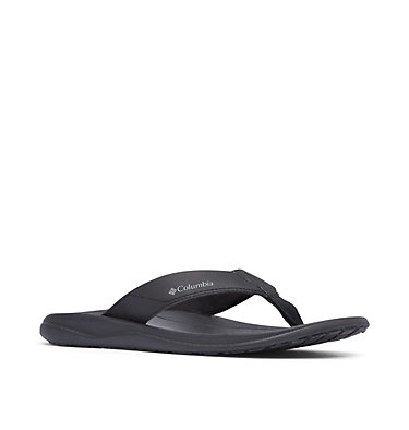 Men's Columbia™ Flip Flop COLUMBIA™ FLIP | 088 | 10, Black, Ti Grey Steel, 3/4 front