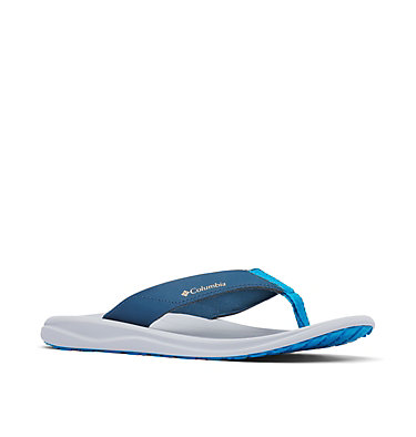 Men's Columbia™ Flip Flop COLUMBIA™ FLIP | 088 | 10, Petrol Blue, Light Curry, 3/4 front