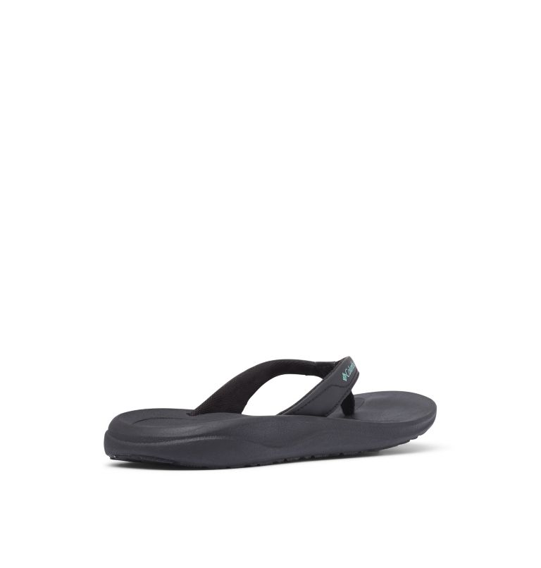 COLUMBIA™ FLIP | 010 | 12 Women's Columbia™ Flip Flop, Black, Copper Ore, 3/4 back