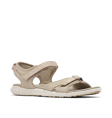 Women's Columbia™ Leather Ankle Strap Sandal COLUMBIA™ LE2 | 011 | 10, Silver Sage, Canyon Rose, 3/4 front