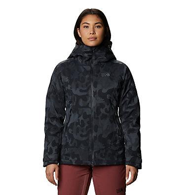 Women's Powder Quest™ Insulated Jacket Powder Quest™ Insulated Jacket | 549 | L, Dark Storm Jacquard, front