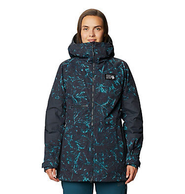 Women's Firefall™ Insulated Jacket Firefall™ Insulated Jacket | 006 | L, Dark Storm Glitch Print, front