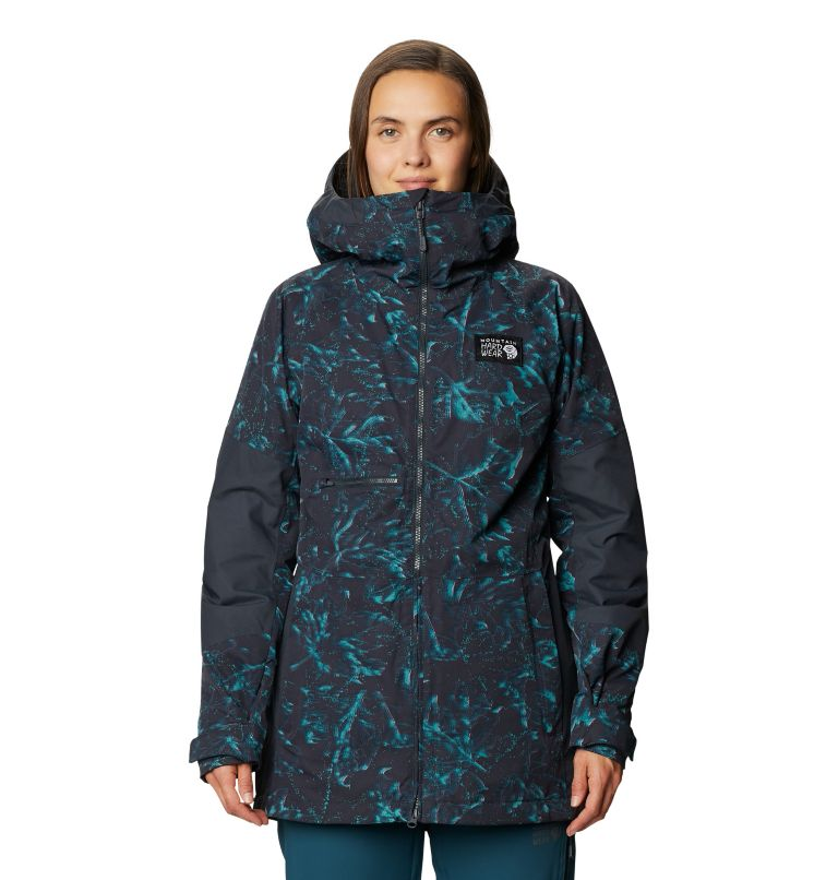 Firefall™ Insulated Jacket | 006 | S Manteau isolé Firefall™ Femme, Dark Storm Glitch Print, front