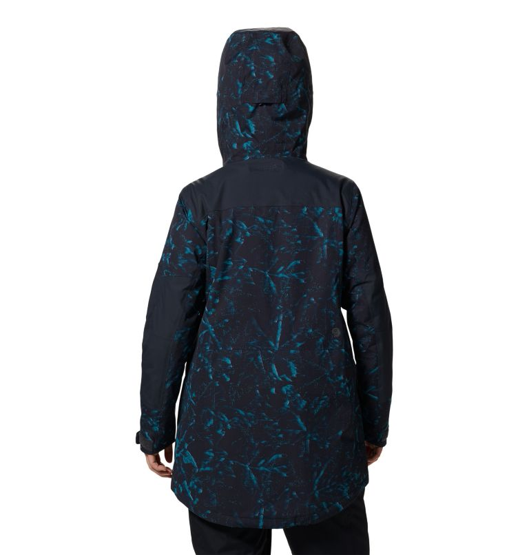 Firefall/2™ Insulated Parka | 006 | XS Women's Firefall/2™ Insulated Parka, Dark Storm Glitch Print, back