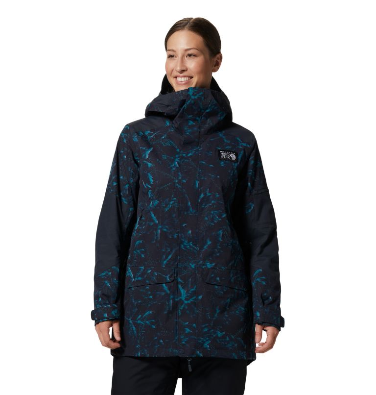 Firefall/2™ Insulated Parka | 006 | XS Women's Firefall/2™ Insulated Parka, Dark Storm Glitch Print, front