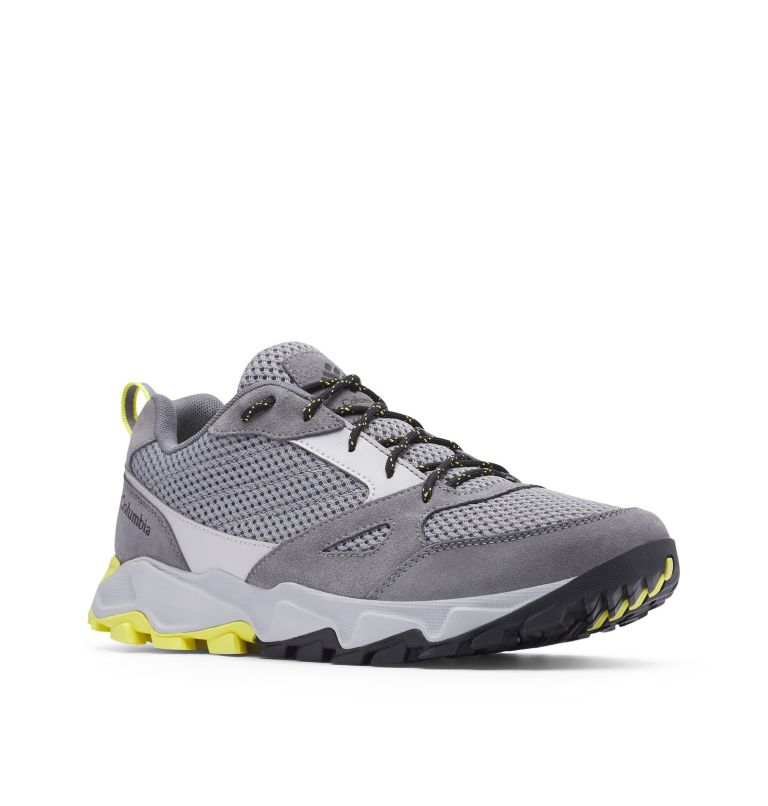 IVO TRAIL™ BREEZE | 088 | 7.5 Men's Ivo Trail™ Breeze Shoe, Steam, Acid Yellow, 3/4 front
