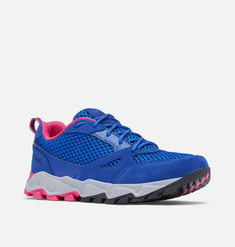 IVO TRAIL™ BREEZE | 410 | 8.5 Women's Ivo Trail™ Breeze Shoe, Cobalt Blue, Haute Pink, 3/4 front