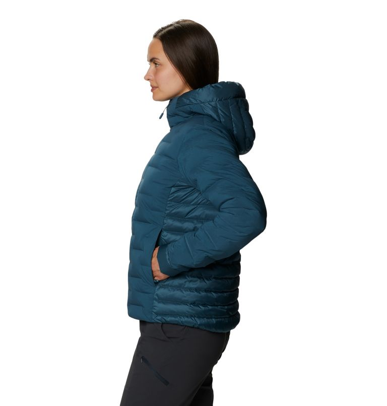 Women's Super/DS™ Stretchdown Hybrid Hooded Jacket Women's Super/DS™ Stretchdown Hybrid Hooded Jacket, a1