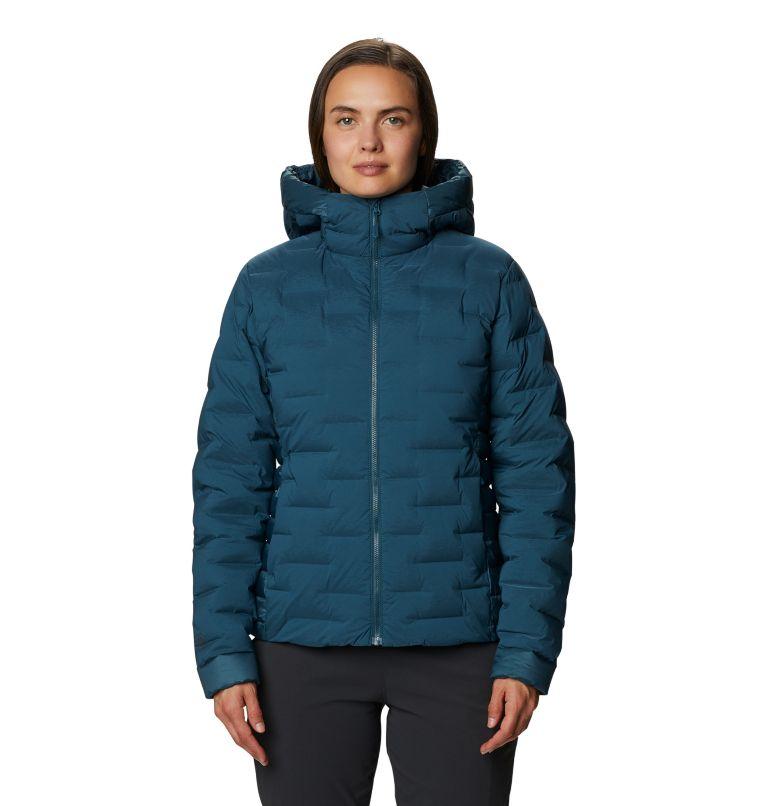 Super/DS™ Hybrid Jacket | 324 | M Women's Super/DS™ Stretchdown Hybrid Hooded Jacket, Icelandic, front