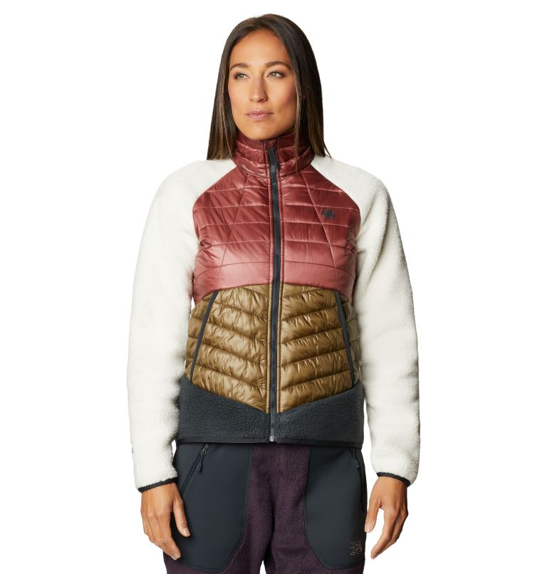 Altius Hybrid W Jkt | 643 | S Women's Altius Hybrid Jacket, Clay Earth, front
