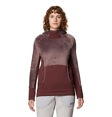 Women's Polartec High Loft™ Hoody Monkey Fleece™ Hoody | 055 | M, Warm Ash, front