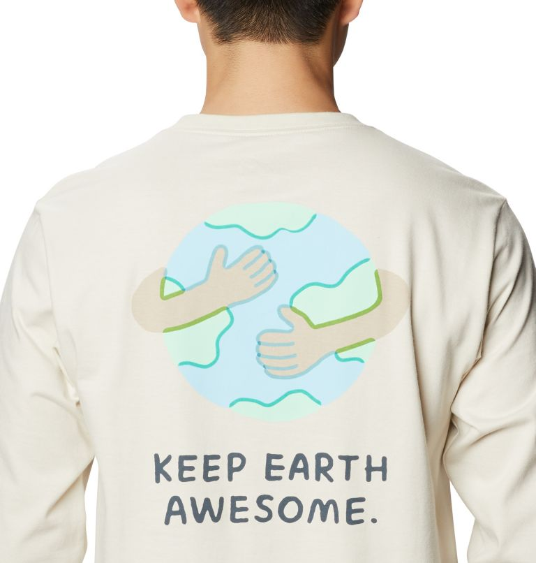 Keep Earth Awesome™ Long Sleeve T | 022 | L Men's Keep Earth Awesome™ Long Sleeve T-Shirt, Stone, a3