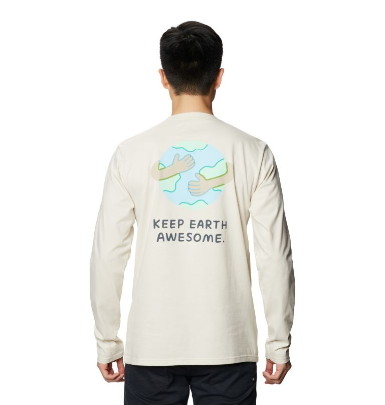 Keep Earth Awesome™ Long Sleeve T | 022 | L Men's Keep Earth Awesome™ Long Sleeve T-Shirt, Stone, back