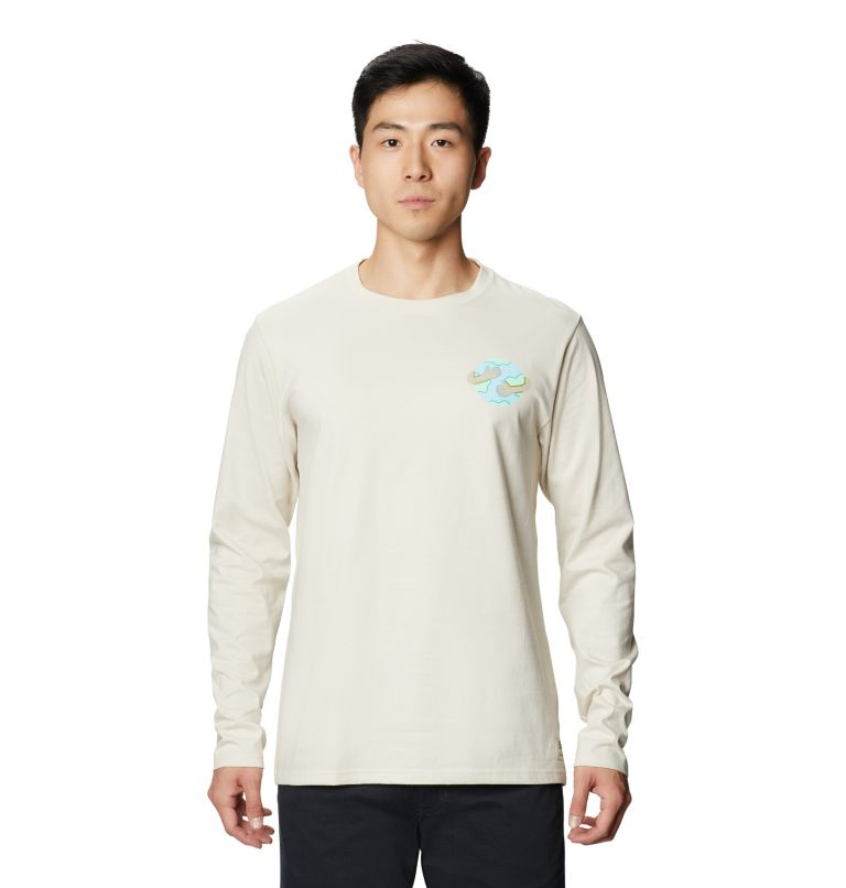 Keep Earth Awesome™ Long Sleeve T | 022 | L Men's Keep Earth Awesome™ Long Sleeve T-Shirt, Stone, front