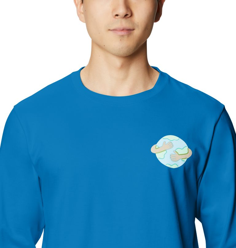 Keep Earth Awesome™ Long Sleeve T | 402 | L Men's Keep Earth Awesome™ Long Sleeve T-Shirt, Blue Horizon, a2
