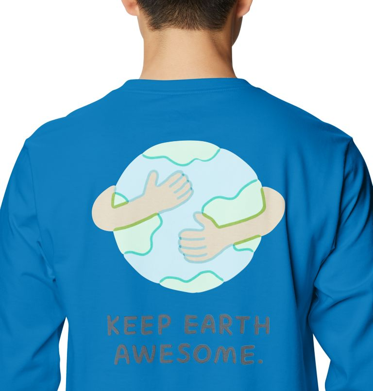 Keep Earth Awesome™ Long Sleeve T | 402 | L Men's Keep Earth Awesome™ Long Sleeve T-Shirt, Blue Horizon, a3