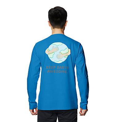 Men's Keep Earth Awesome™ Long Sleeve T-Shirt Keep Earth Awesome™ Long Sleeve T | 402 | L, Blue Horizon, back
