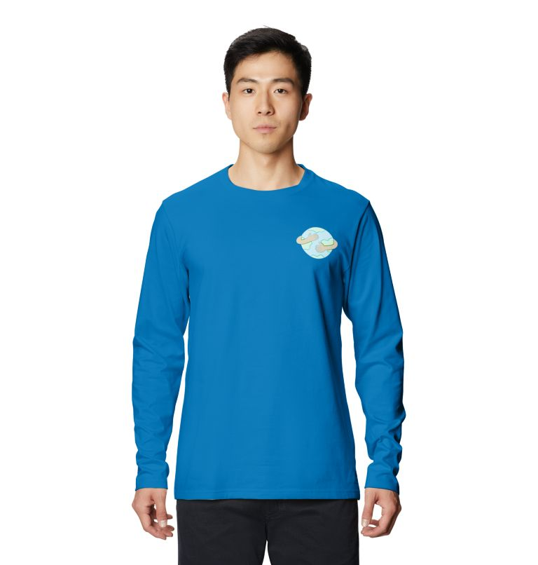 Keep Earth Awesome™ Long Sleeve T | 402 | L Men's Keep Earth Awesome™ Long Sleeve T-Shirt, Blue Horizon, front
