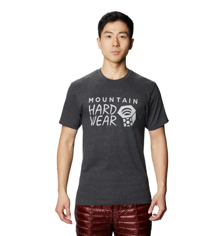 Mountain Hardwear Logo™ Short Sleeve T | 011 | M Men's Mountain Hardwear Logo™ Short Sleeve T-Shirt, Heather Black, front