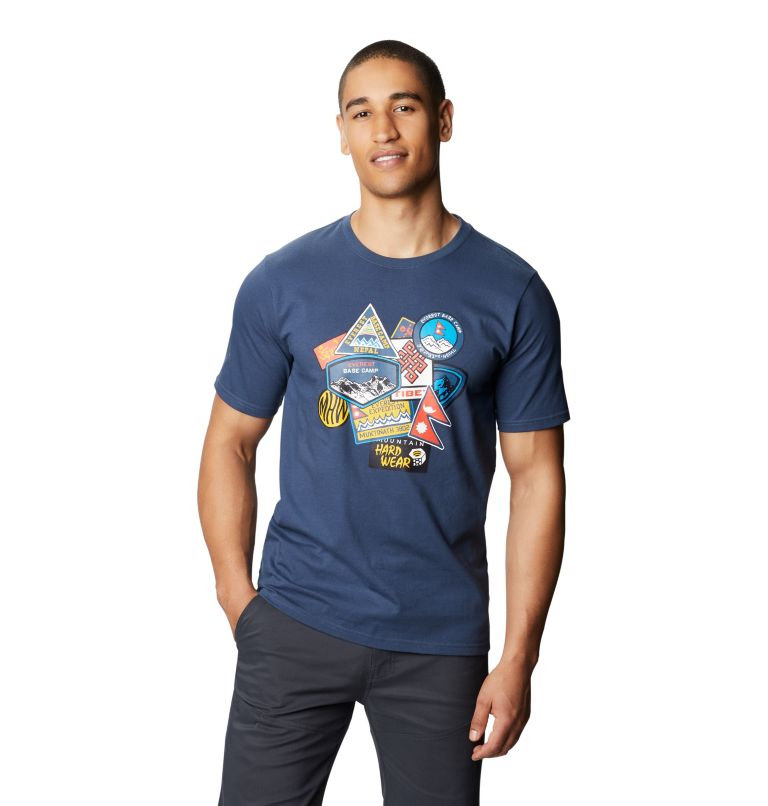 Patchwork™ Short Sleeve T | 492 | XL Men's Patchwork™ Short Sleeve T-Shirt, Zinc, front