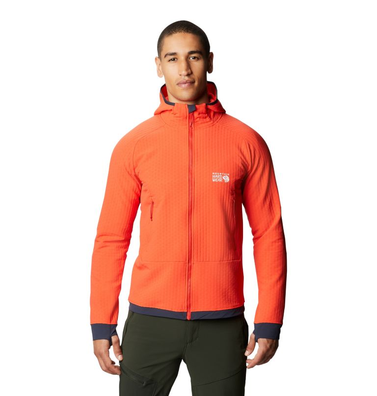 Keele™ Ascent Hoody | 636 | S Chandail à capuchon Keele™ Ascent Homme, Fiery Red, front