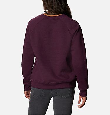 Women's Woodlane Park™ Logo Crew Sweatshirt Woodlane Park™ Logo Crew | 618 | L, Black Cherry, Black, back