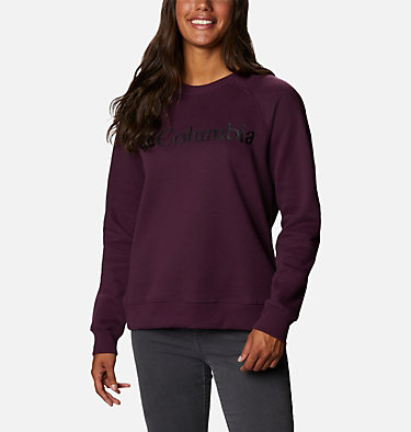 Women's Woodlane Park™ Logo Crew Sweatshirt Woodlane Park™ Logo Crew | 618 | L, Black Cherry, Black, front