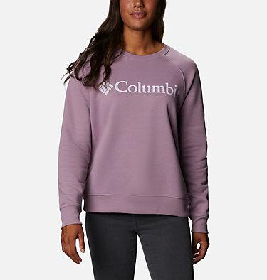 Women's Woodlane Park™ Logo Crew Sweatshirt Woodlane Park™ Logo Crew | 618 | L, Winter Mauve, Pale Lilac, front