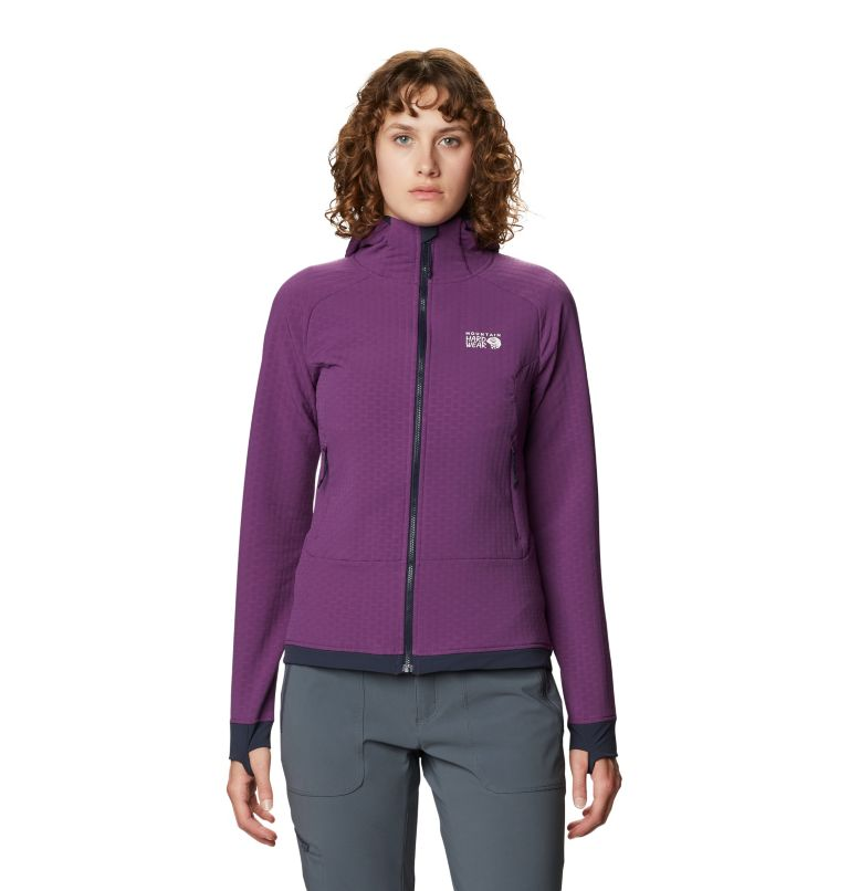 Keele™ Ascent Hoody | 502 | XL Women's Keele™ Ascent Full Zip Hoody, Cosmos Purple, front
