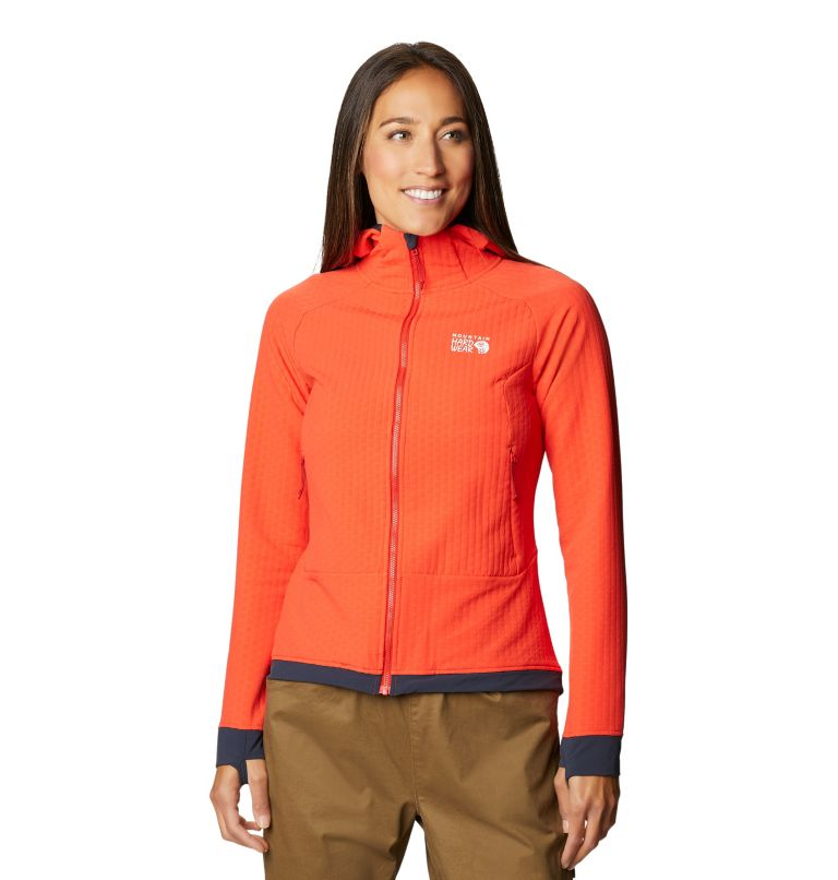 Keele™ Ascent Hoody | 636 | S Women's Keele™ Ascent Full Zip Hoody, Fiery Red, front