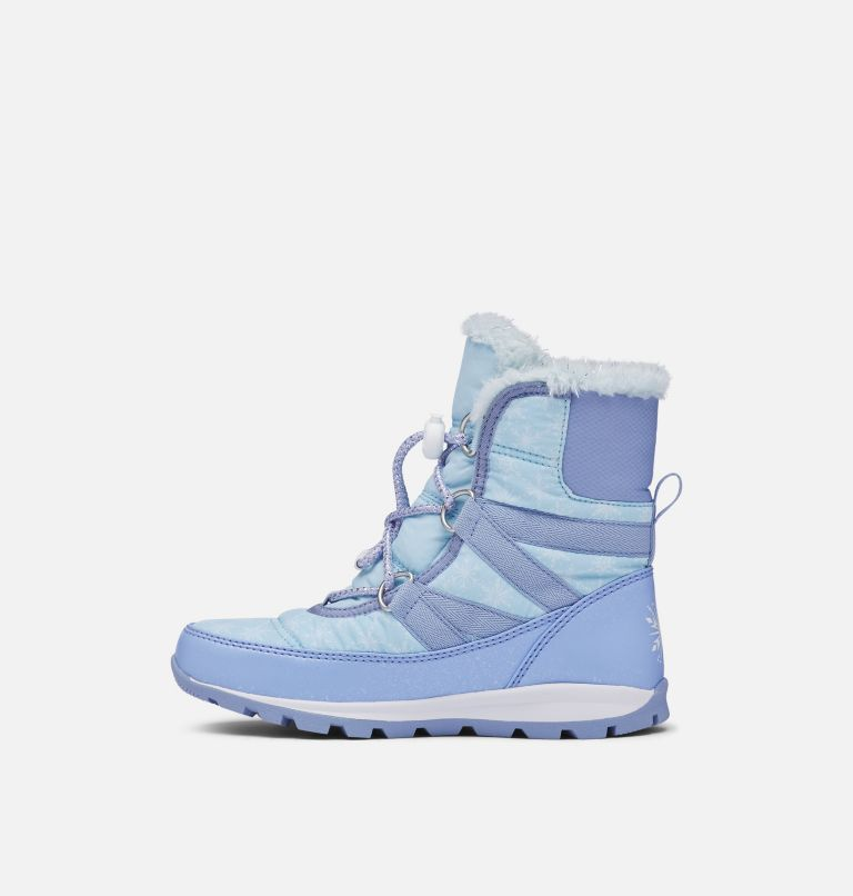 DISNEY X SOREL YOUTH WHITNEY™  | 535 | 7 Disney X Sorel Youth Whitney™ Short Frozen 2 Boot –Elsa Edition, Frosted Purple, Pure Silver, medial