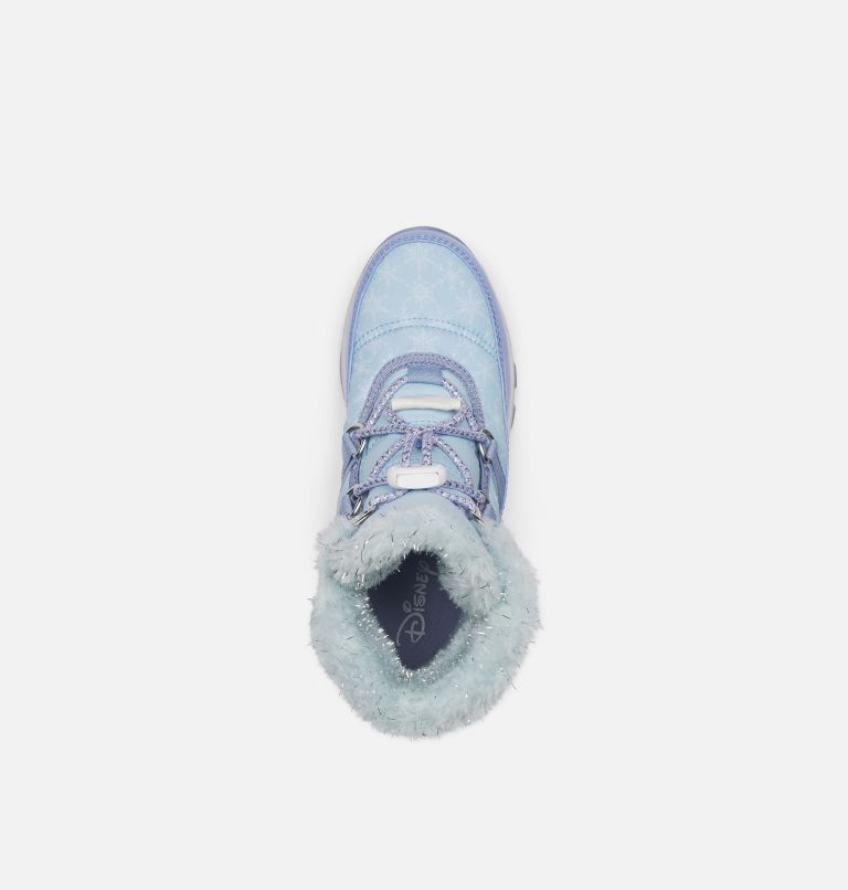DISNEY X SOREL YOUTH WHITNEY™  | 535 | 7 Disney X Sorel Youth Whitney™ Short Frozen 2 Boot –Elsa Edition, Frosted Purple, Pure Silver, top