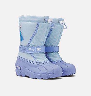 Botte pour jeunes Disney x SOREL Flurry™ de la Reine des Neiges 2 – Édition Elsa    DISNEY X SOREL YOUTH FLURRY™ FROZEN ELSA | 535 | 3, Frosted Purple, 3/4 front