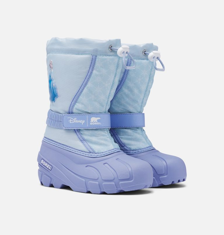 Disney X Sorel Youth Flurry™ Frozen 2 Boot –Elsa Edition Disney X Sorel Youth Flurry™ Frozen 2 Boot –Elsa Edition, 3/4 front