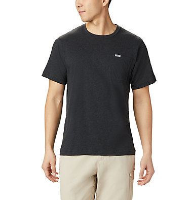 Men's PFG™ Triangle Print Pocket T-Shirt PFG™ Triangle Print Pocket Tee | 454 | M, Black, Gamefish Print, back