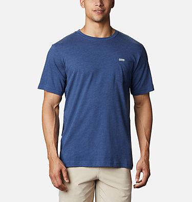 Men's PFG™ Triangle Print Pocket T-Shirt PFG™ Triangle Print Pocket Tee | 454 | M, Carbon, Archive Palms Print, back