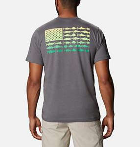 Men's PFG™ Fish Flag Pocket T-Shirt
