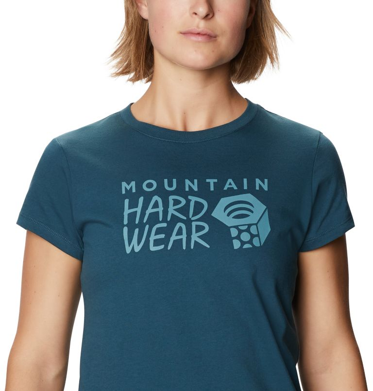 Mountain Hardwear Logo™ Short Sleeve T | 324 | XS Women's Mountain Hardwear Logo™ Short Sleeve T, Icelandic, a2