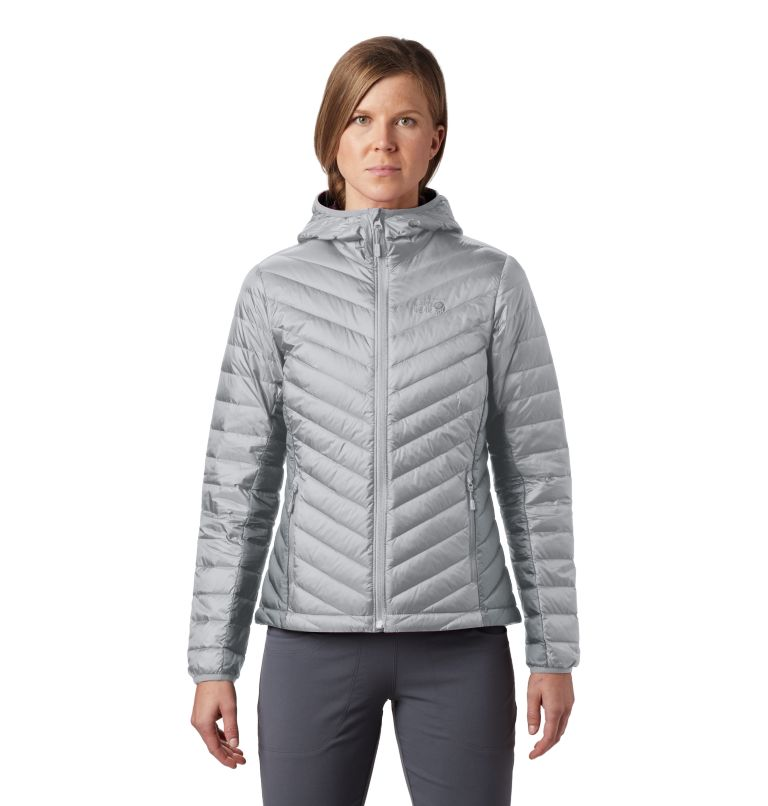 Hotlum™ W Hooded Jacket | 063 | M Women's Hotlum™ Hooded Down Jacket, Grey Ice, front