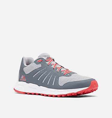 Men's F.K.T. Attempt Trail Running Shoe COLUMBIA MONTRAIL F.K.T.™ ATTEMPT | 088 | 10, Steam, Red Lily, 3/4 front