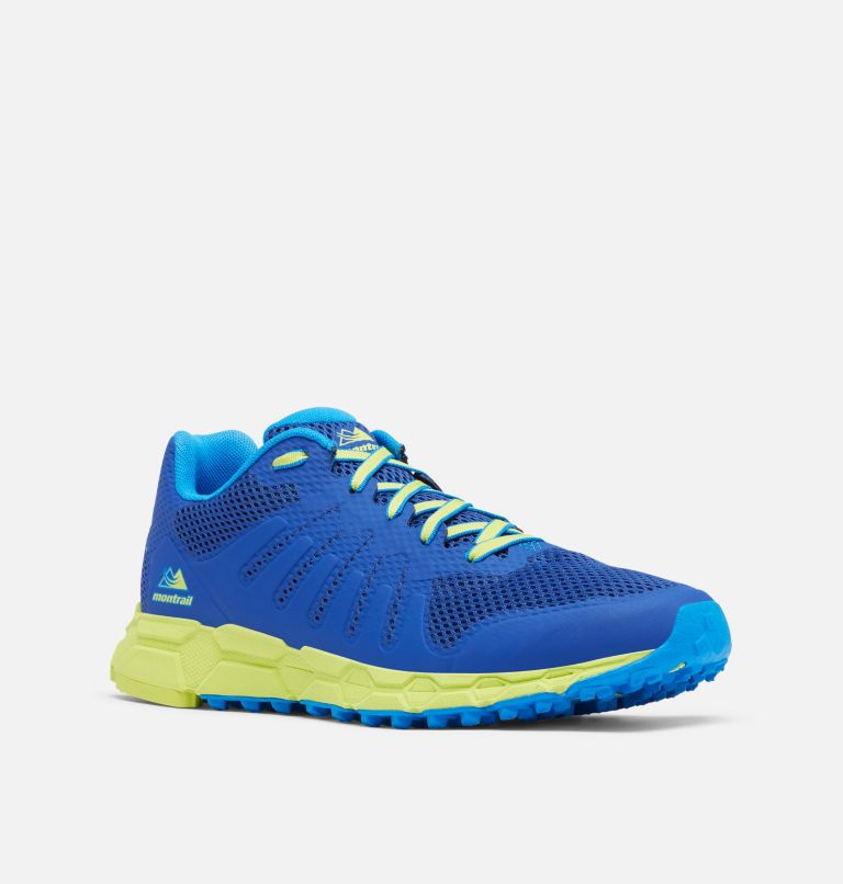 COLUMBIA MONTRAIL F.K.T.™ ATTEMPT | 465 | 7 Men's F.K.T. Attempt Trail Running Shoe, Aviation, Acid Green, 3/4 front