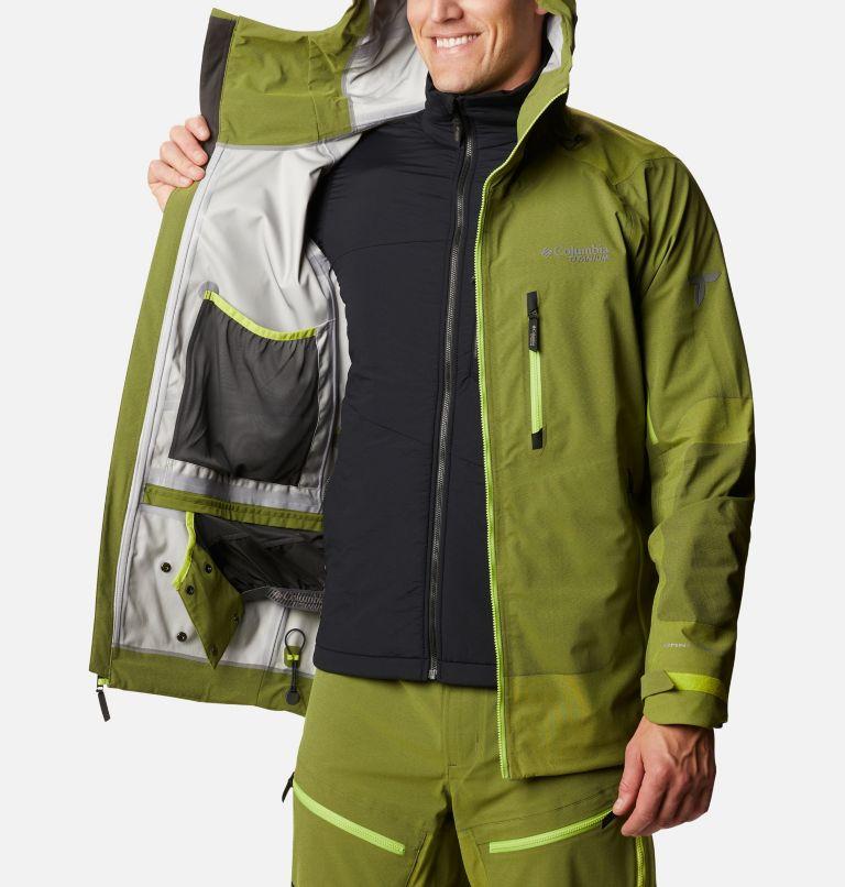 Powder Chute™ Shell | 386 | L Men's Powder Chute Ski Shell Jacket, Bright Chartreuse, a3