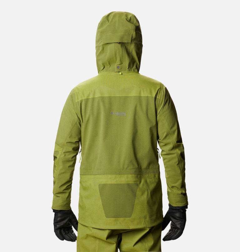 Powder Chute™ Shell | 386 | L Men's Powder Chute Ski Shell Jacket, Bright Chartreuse, back